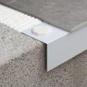 Novovierteaguas LX - Inclined aluminum gutter profile