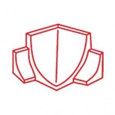 Coin intérieur 4R - Rencontre de 2 demi-tringles sanitaires superposées