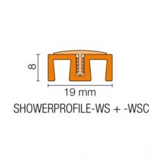 SHOWERPROFILE-WSC - Semicircular plastic tab