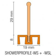 SHOWERPROFILE-WSL - Straight plastic tab