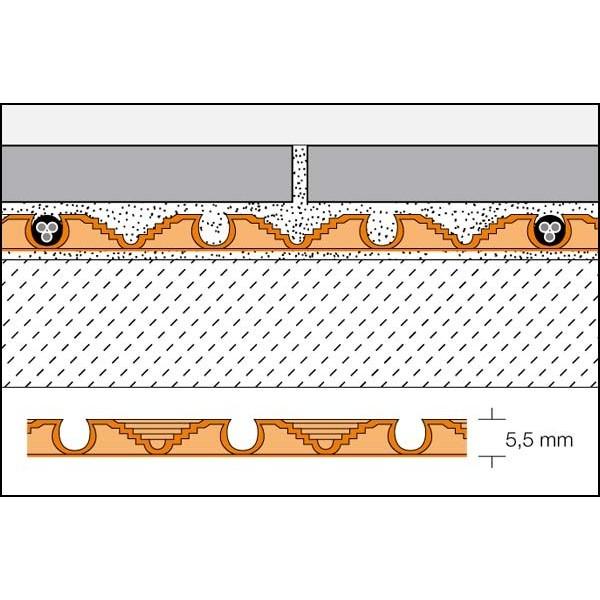 L mina para suelo radiante con n dulos en bobinas ditra heat - Laminas adhesivas para suelos ...