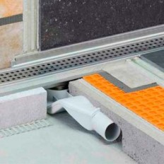 KERDI-LINE-F-40 - Drain kit horizontal shower trays reduced height