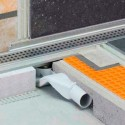 KERDI-LINE-F-40 - Kit scarico orizzontale piatti doccia ribassati