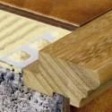 Novopeldaño Romano - Natural wood stair nosing profile