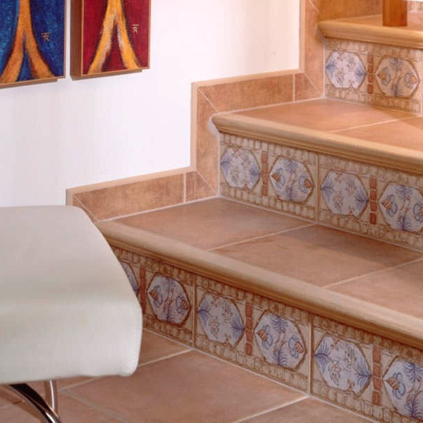 Pelda os para escaleras de madera natural modelo novopelda o romano - Escaleras con peldanos de madera ...