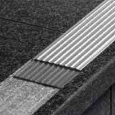 TREP-EFK - Non-slip stainless steel stair nosing overlap