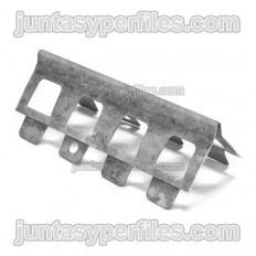 Metal guard plaster profile for monolayer mortars