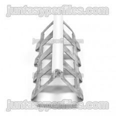 Perfil monocapa galvanizado borde blanco paquete de 37.5 m