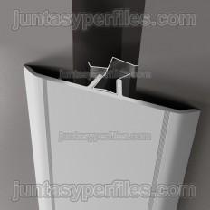 Tapajunta aluminio plano con clip