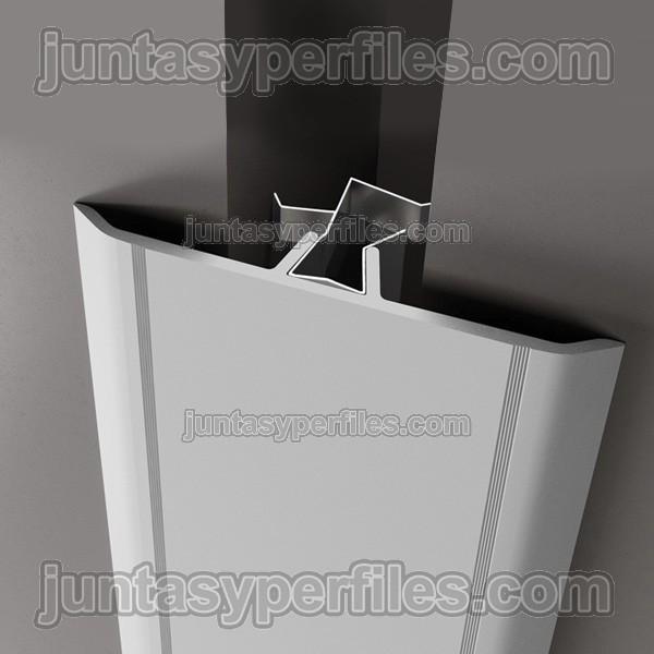 Tapajunta de aluminio o cubrejunta con clip Novotapajunta NDA