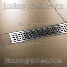 KERDI-LINE-B - Perforated stainless grid with frame for work shower trays