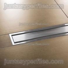 KERDI-LINE-A - Grelha cega de aço inox com moldura para base de chuveiro de trabalho