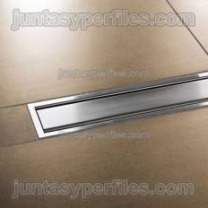 KERDI-LINE-A - Rejilla inoxidable ciega con marco para platos de ducha de obra
