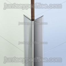 Novoescuadra Inox - Overlapping stainless steel corner profile
