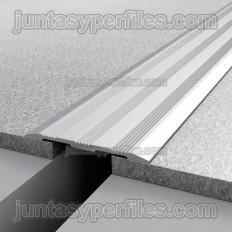 Tapajunta de aluminio anodizado plata mate Novotapajunta GTA