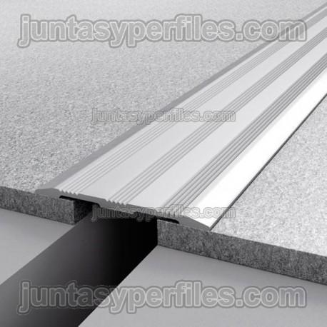 Tapajunta de aluminio anodizado plata mate novotapajunta gta - Perfil aluminio anodizado ...