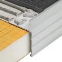 SCHIENE-STEP - Coin pour plan de travail en aluminium