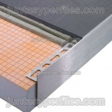 SCHIENE-STEP-EB - Cantoneras en acero inoxidable para encimeras