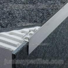 SCHIENE-STEP-EB - Cantonera en acero inoxidable para encimera -Croquis