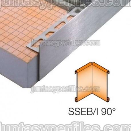 SCHIENE-STEP-EB - Cantonera en acero inoxidable para encimera - Ángulo interno 90º