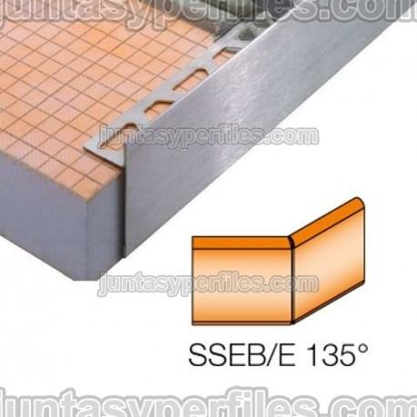 SCHIENE-STEP-EB - Cantonera en acero inoxidable para encimera - Ángulo externo 135º