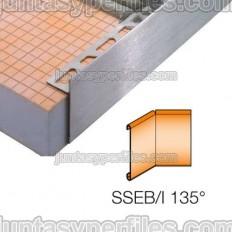 SCHIENE-STEP-EB - Cantonera en acero inoxidable para encimera - Ángulo interno 135º