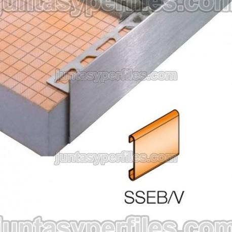 SCHIENE-STEP-EB - Cantonera en acero inoxidable para encimera - Empalme