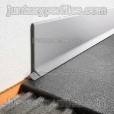 DESINGBASE-SL - Perfil de aluminio para rodapié de sobreponer - Aluminio lacado blanco