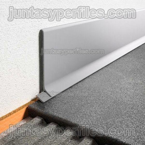 Perfil rodapie de aluminio lacado o anodizado modelo for Rodapie pvc blanco