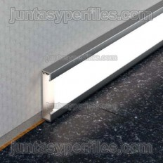 DESIGNBASE-QD - Perfil rodapie o cenefa de aluminio