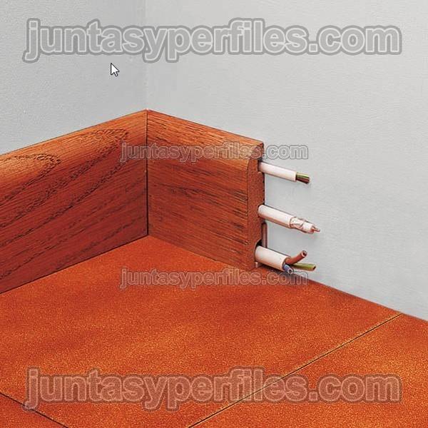 Rodapi de madera natural pasacables para novorodapie madera - Rodapie de madera ...