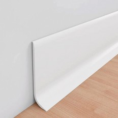 Rodapie semiflex PVC 100mm barras 2,5 m