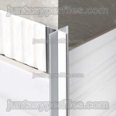 Novopilastra - Profil d'angle en aluminium à angle droit.