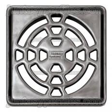 KERDI-DRAIN 1 C - 10x10 cm screwless stainless drain grate