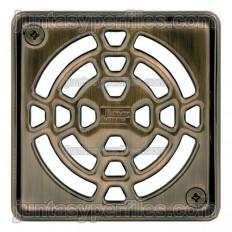 KERDI-DRAIN 1 - Rejilla sumidero bronceada de 10x10 cm atornillable