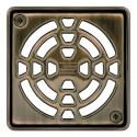 KERDI-DRAIN 1 D - Grille de vidange à visser 10x10 cm bronze