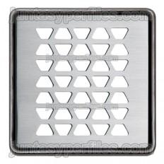 KERDI-DRAIN 2 - Griglia a rombo in acciaio inossidabile 10x10 cm