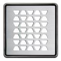 KERDI-DRAIN 2 - grade de losango de drenagem de aço inoxidável de 10x10 cm