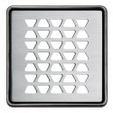 KERDI-DRAIN 2 - 10x10 cm stainless steel drain rhombus grid