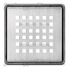 KERDI-DRAIN 3 - 10x10 cm perforated stainless steel drain grate
