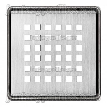 KERDI-DRAIN 3 - Rejilla sumidero de acero inoxidable de 10x10 cm