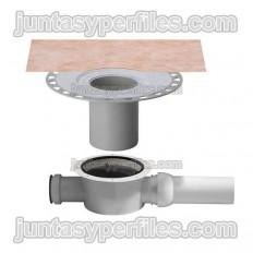 KERDI-DRAIN KDBH50GV - Desagüe plato ducha salida horizontal y sifón para interior DN50