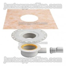 KERDI-DRAIN-BASE KDBH40 - Indoor horizontal exit shower tray drain