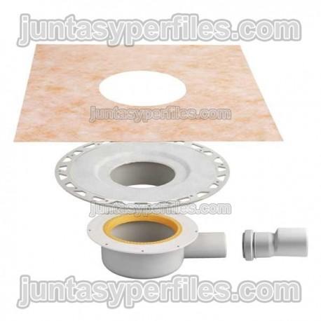 Sumidero plato ducha salida horizontal y sifón KERDI-DRAIN-BASE KDBH40