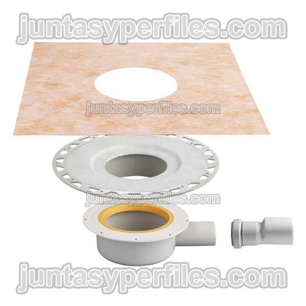 Kdbh40 kerdi drain base sumidero ducha salida horizontal for Accesorios para platos de ducha