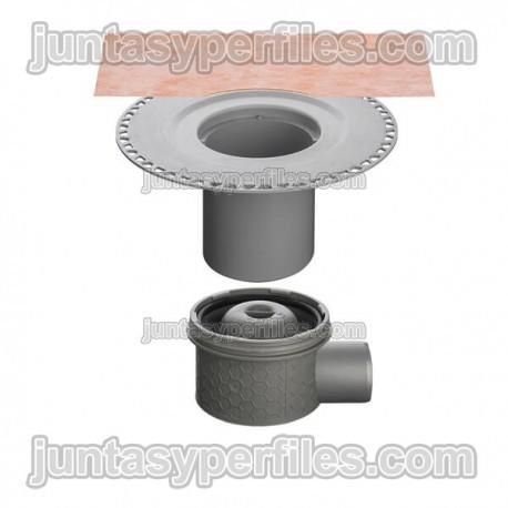 KERDI-DRAIN - Sumidero plato de ducha salida horizontal y sifón para interior DN50/70