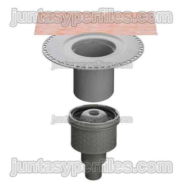 Kdbav50gvb kerdi drain sumidero ducha salida vertical y for Accesorios para platos de ducha