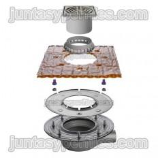KERDI-DRAIN KDBH50ASLVB - Sumidero plato de ducha salida horizontal sin sifón para exterior DN50