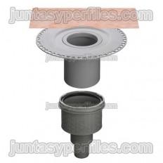 KERDI-DRAIN KDBV50B - Scarico doccia piatto verticale senza sifone per esterno DN50