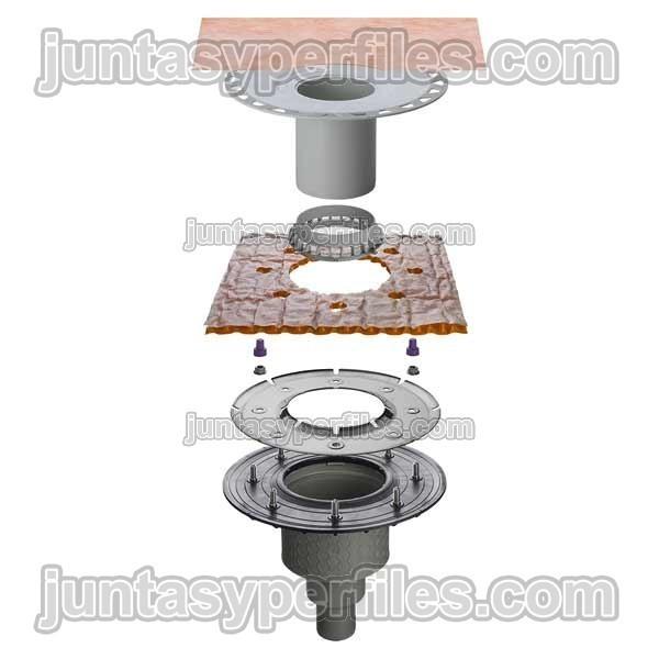 Kdbv50msbb kerdi drain sumidero ducha vertical sin sif n for Sifon plato ducha